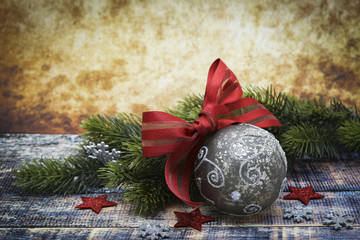 Modern christmas decoration closeup
