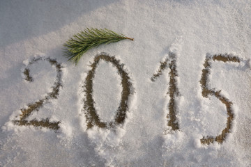 New Year 2015 to write on the snow