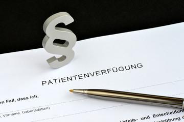Patientenverfügung, Paragraph, Alter, Demenz, Gesetz