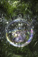 Angle glass Christmas tree bauble decoration