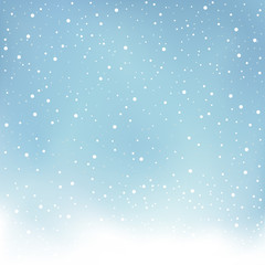 winter snowfall blue background