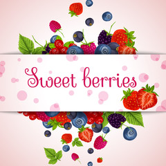 Fresh berries card