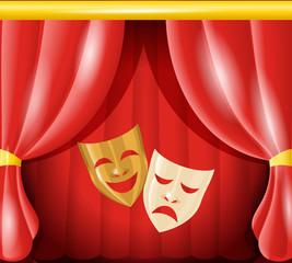 Theatre masks background