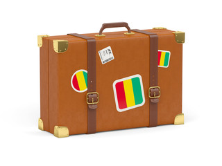 Suitcase with flag of guinea