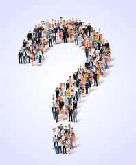 Group of people question poster