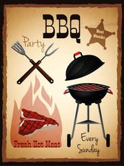 Bbq menu poster
