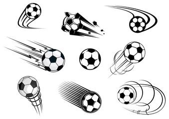 Fflying soccer balls set