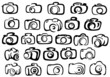 Digital and film camera icons