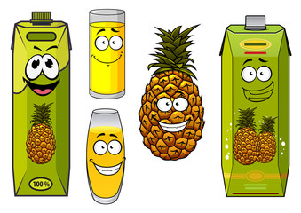 Pineapple fruit and juices