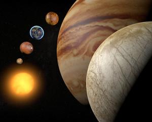 Satellite Europa, luna di Giove, spazio sistema solare