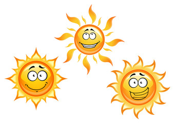 Cartoon sun characters