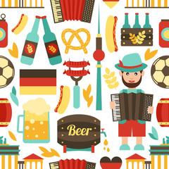Germany travel seamless pattern