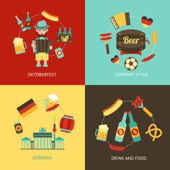 Germany travel flat set