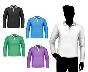 T-shirts male polo long sleeve set