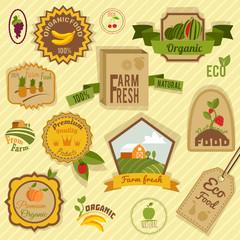 Eco labels fruits