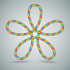 Multicolor Celtic Laced Rope Shape
