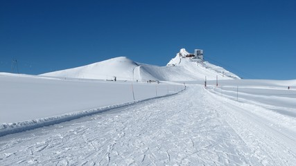 Glacier De Diablerets summit station and ski slope