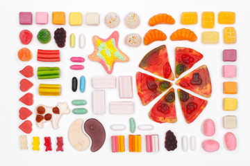 the composition of chewing candies