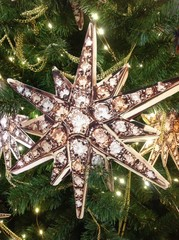 звезда новогоднее украшение на елке