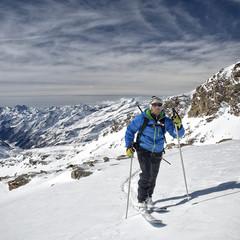 High Altitude Hiking. - Stock Image