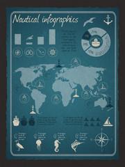Nautical infographic set