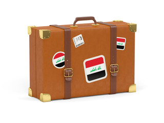 Suitcase with flag of iraq