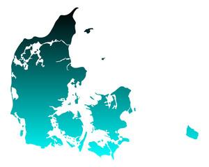 Karte von Dänemark