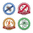 Leinwanddruck Bild - Antibacterial badges set
