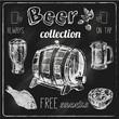 Beer icons blackboard set - 73637087