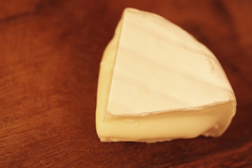 piece of a soft cheese