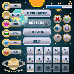 Space game interface design