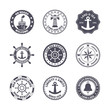 Sea port label set - 73637437