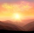 Leinwandbild Motiv sunrise in the mountains