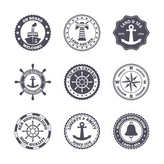 Sea port label set
