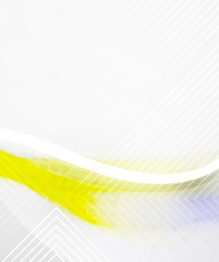 Abstract Background - Yellow shiny blurred wave