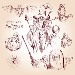 Halloween sketch set