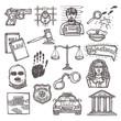 Law icon sketch - 73638229