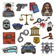 Law icon sketch color - 73638232