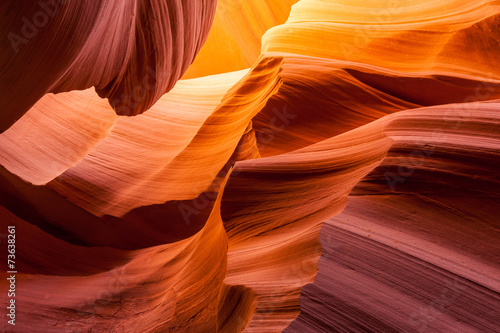 Sandstone texture in Antelope canyon, Page, Arizona - 73638261
