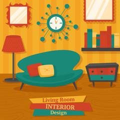 Interior design sofa