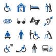 Leinwanddruck Bild - Disabled icons set