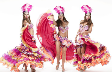 Collage, carnival dancer, amazing costume