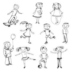 Children characters sketch