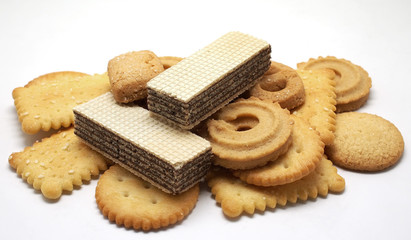 waffles biscuit and cookie
