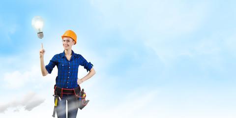 Woman repairman