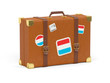 Suitcase with flag of luxembourg