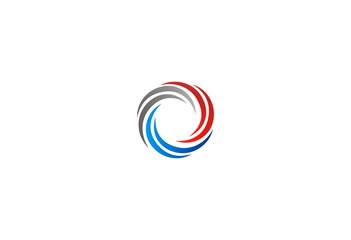 circle movement dynamic abstract vector logo