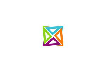 circle square color vector logo