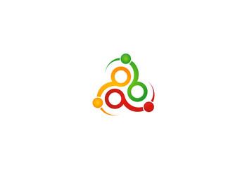 circle technology vector logo