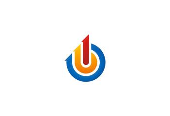 circle-destination-arrow-logo
